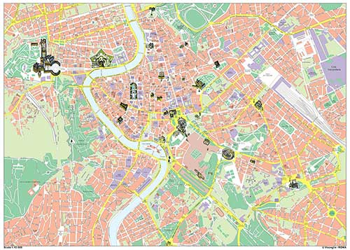 carta stradale turistica roma cartografica visceglia