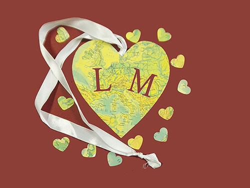 cuore in legno cartografica visceglia