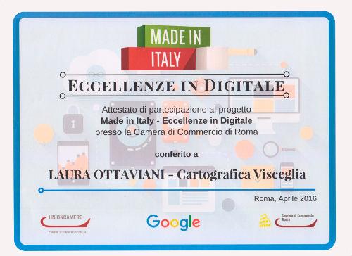 Eccellenze in digitale conferito a Laura Ottaviani - Cartografica Visceglia