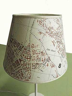 lampada particolare cartografica visceglia