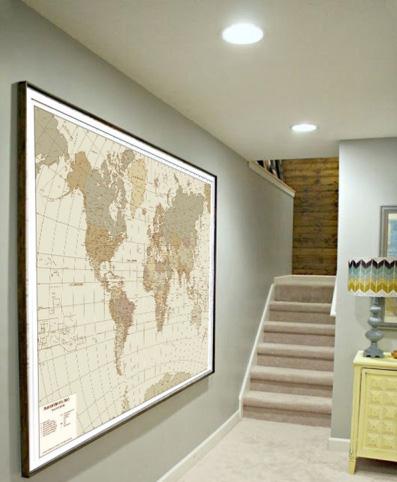 planisfero antichizzato cartografica viscegli