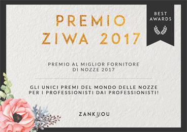 Premio Ziwa 2017 al miglior fornitore di nozze 2017