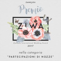 Premio Ziwa 2017 nella categoria Partecipazioni di nozze