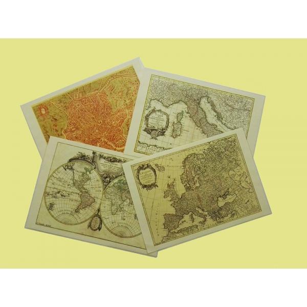 tovagliette all'americana in cui stampare varie tipologie di cartine sia antiche che moderne