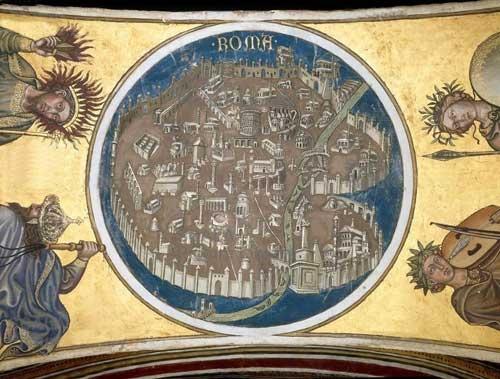 Affresco di Taddeo di Bartolo al Palazzo Pubblico di Siena