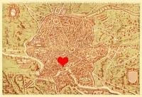 Carte Geografiche con il Cuore