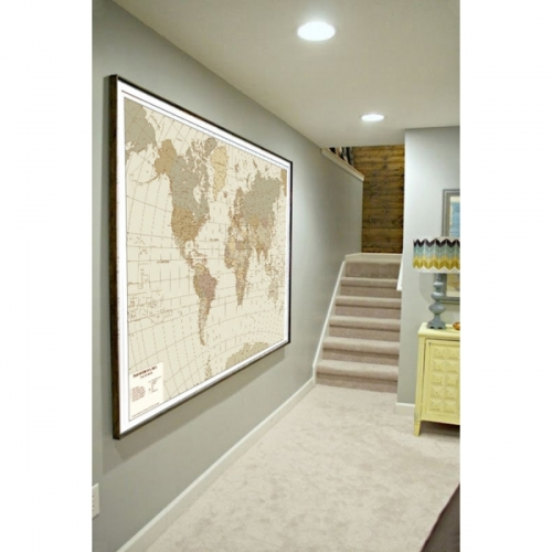 Carte geografiche murali per arredamento, scuole ed uffici