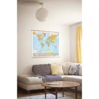 Carte geografiche vintage come arredamento nei palazzi signorili