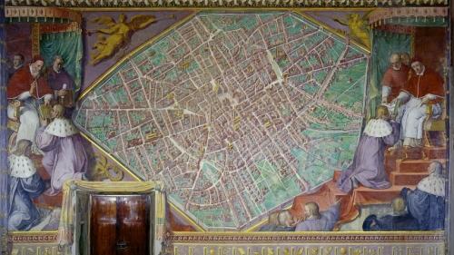La Sala Bologna di Gregorio XIII, nei palazzi Vaticani.