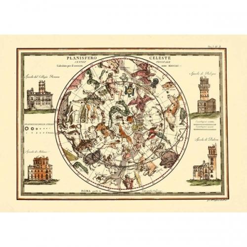 Le carte geografiche celesti antiche della cartografica Visceglia