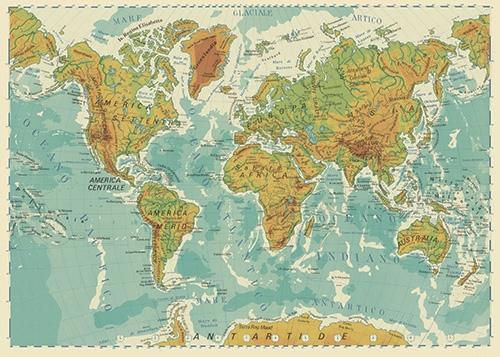 Riscaldamento globale, coste marine e carte geografiche