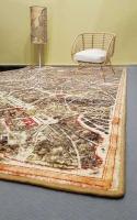 Tappeti e quadri con mappe geografiche per arredamento