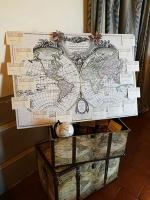 Ti sposi a settembre o a ottobre? Programma ora il tuo matrimonio scegliendo lo stile delle carte geografiche