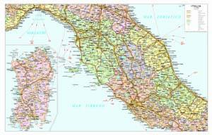 Cartina Stradale Italia Centro Nord.Carte Geografiche Italia
