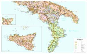 Cartina Geografica Sud Sardegna.Carte Geografiche Italia