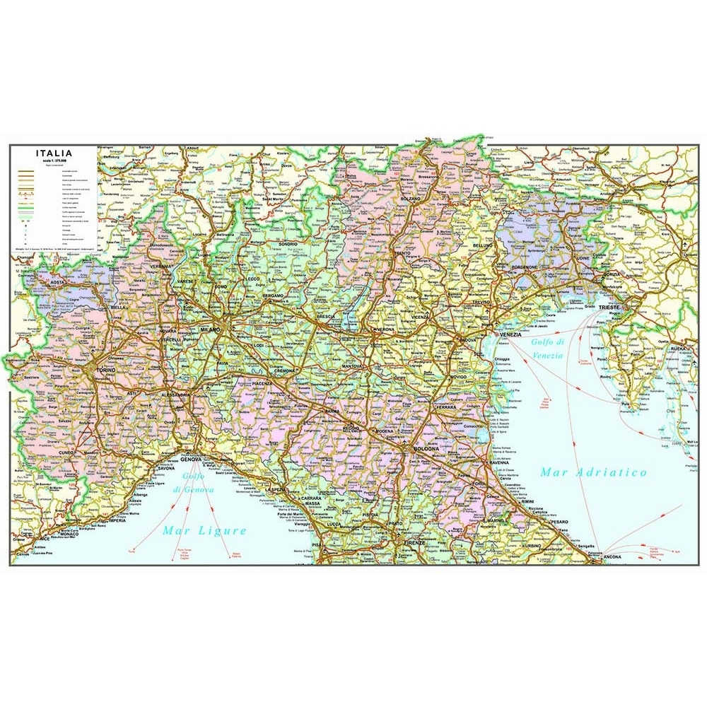 Cartina Italia Politica Ingrandita.Le Carte Geografiche D Italia Di Visceglia