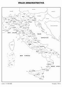 Cartina Italia Regioni Bianco E Nero.Carte Geografiche Italia