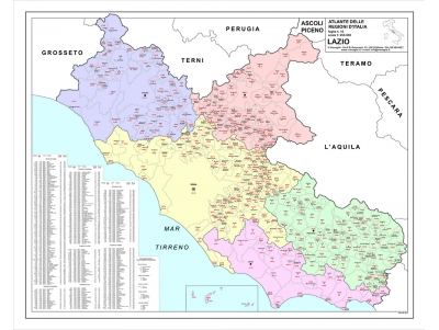 Cartina Geografica Germania Con Cap.Cartografica Visceglia